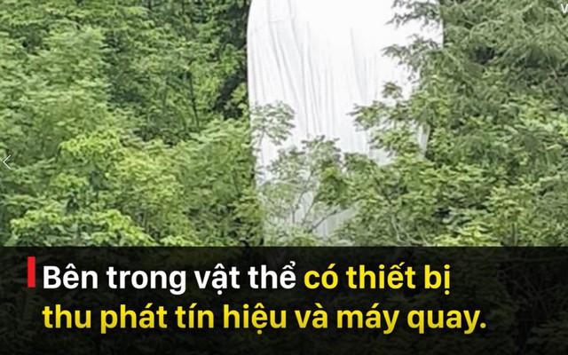 Bóng thám không rơi ở Hà Giang: Có thể được thiết kế cho 1 mục đích thử nghiệm nào đó