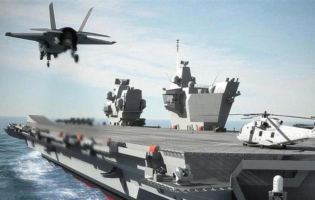 Kết quả hình ảnh cho Thách thức tuyên bố bất hợp pháp của TQ, Anh sẽ điều tàu sân bay lớn nhất tới Biển Đông