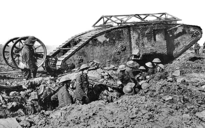 Kết quả hình ảnh cho xe tăng Mark 1