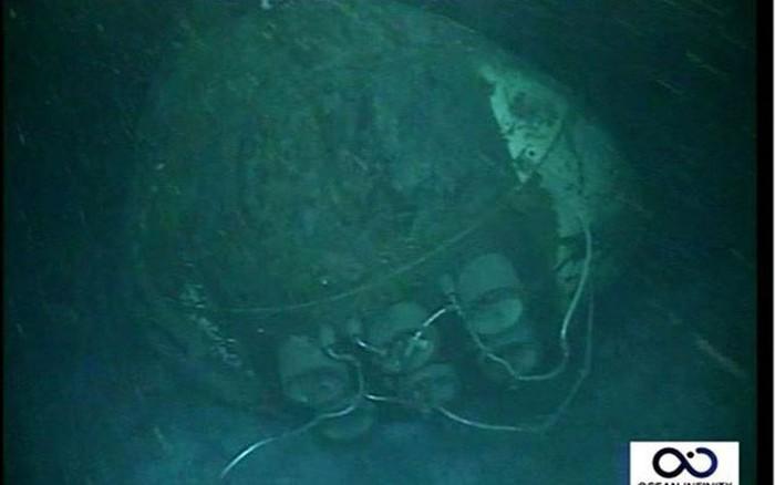 Hé lộ hình ảnh xác tàu ngầm Argentina mất tích cùng 44 thủy thủ -
