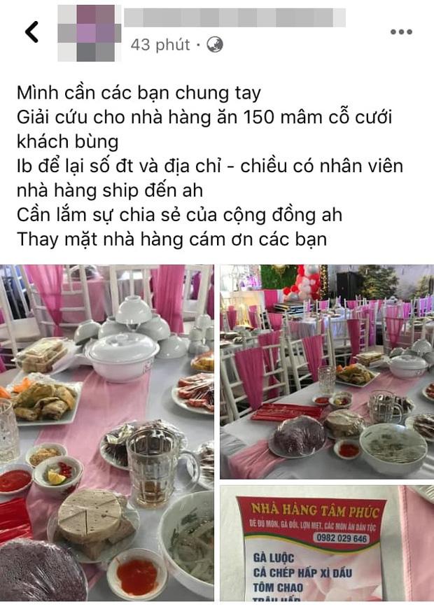 Ngoài hơn 150 mâm cỗ, cô dâu ở Điện Biên còn bị nhà hàng tố từng đặt 156kg gà, 40kg giò, 180 đĩa mía tráng miệng và cũng chưa trả tiền - Ảnh 1.