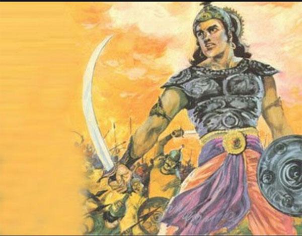 Tranh minh họa về Chandragupta Maurya trên chiến trường. Nguồn photo: newstrend.news