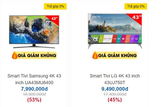 """Trong """"bão"""" giảm giá 50%, tivi 4K 43 inch có giá bán rẻ không tưởng - Ảnh 3."""