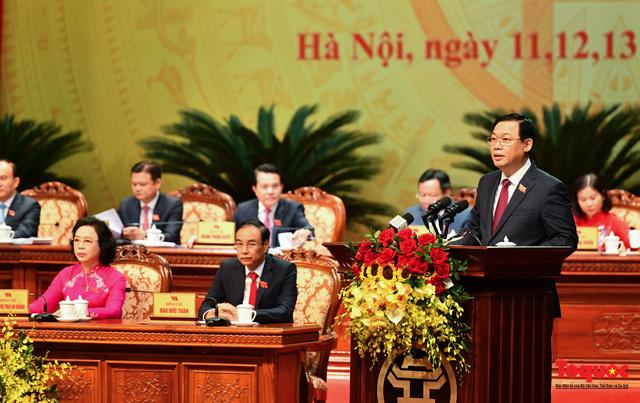 497/497 đại biểu dự Đại hội giới thiệu bầu ông Vương Đình Huệ giữ chức Bí thư Thành ủy Hà Nội - Ảnh 1.