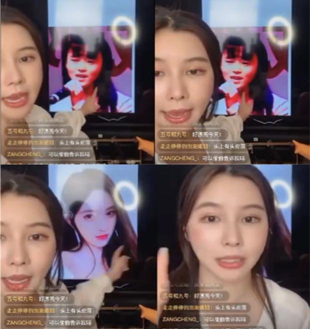 """Lại thêm một hot girl Trung Quốc """"ngã ngựa"""" vì nhan sắc thật trên sóng livestream khác xa ảnh trên mạng - Ảnh 1."""