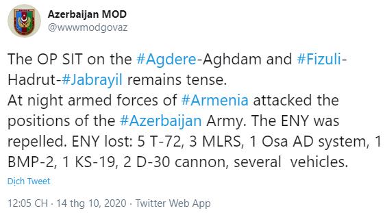 Chiến sự Azerbaijan - Armenia trải qua ngày đẫm máu nhất - Lính đánh thuê Syria chết như ngả rạ ở Karabakh - Ảnh 1.