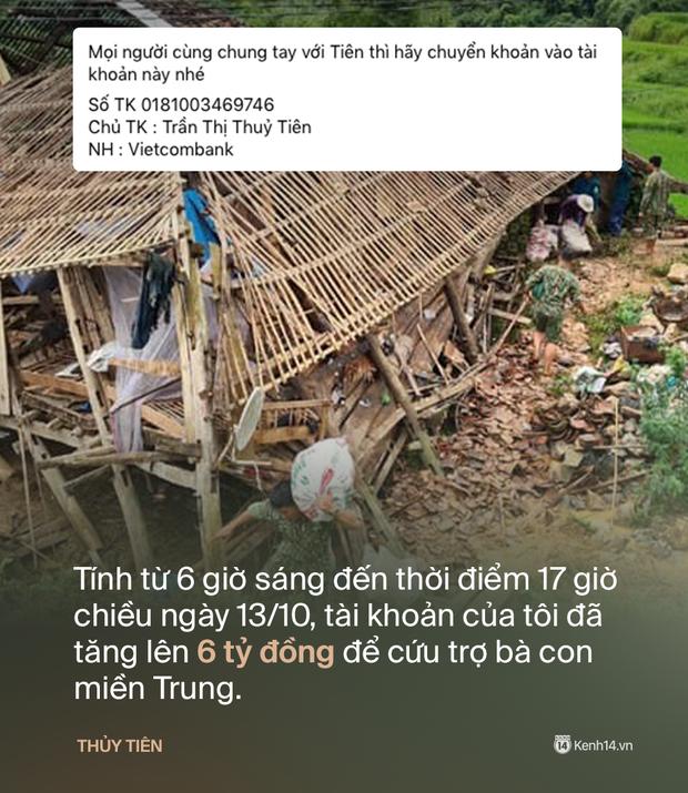 Phỏng vấn nóng Thuỷ Tiên đến Huế cứu trợ miền Trung: Đã kêu gọi được hơn 8 tỷ, bán hết hột xoàn làm từ thiện và chưa kịp báo chồng - Ảnh 2.