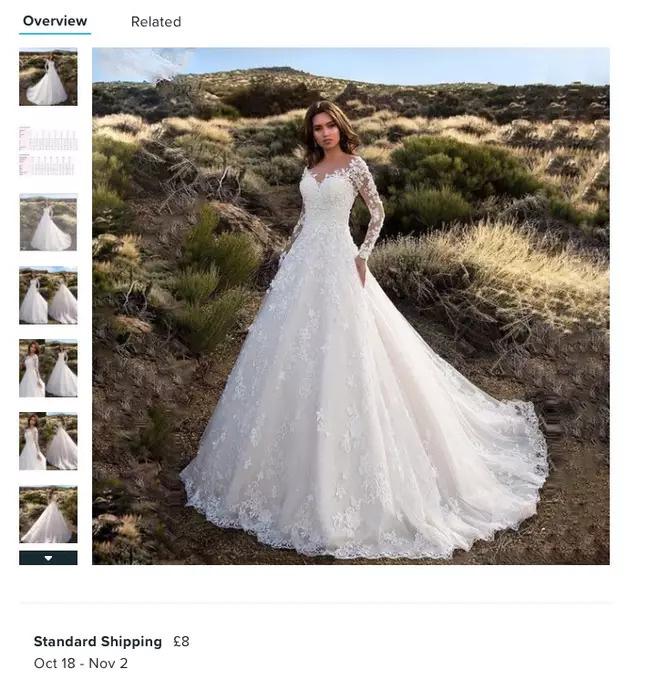 Đặt mua váy cưới online, cô dâu nhận về cái màn tuyn nên chán chẳng muốn lấy chồng nữa - Ảnh 1.