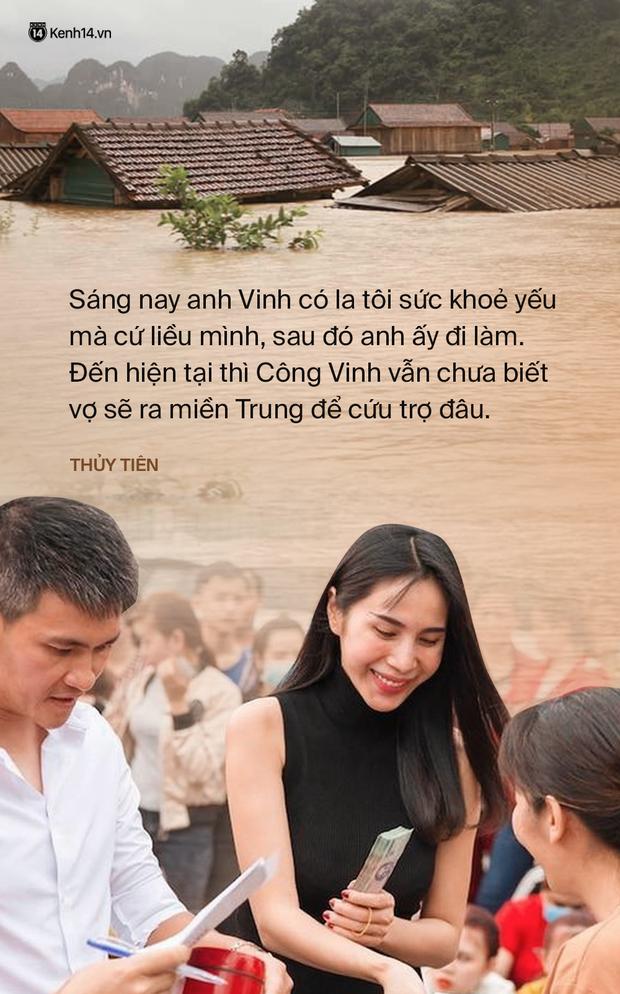 Phỏng vấn nóng Thuỷ Tiên đến Huế cứu trợ miền Trung: Đã kêu gọi được hơn 8 tỷ, bán hết hột xoàn làm từ thiện và chưa kịp báo chồng - Ảnh 5.