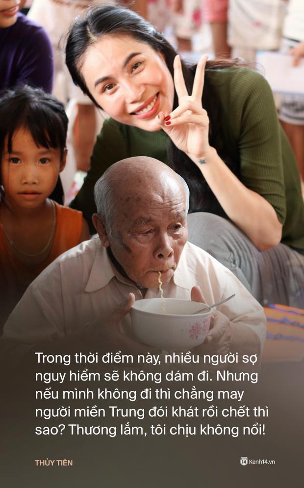 Phỏng vấn nóng Thuỷ Tiên đến Huế cứu trợ miền Trung: Đã kêu gọi được hơn 8 tỷ, bán hết hột xoàn làm từ thiện và chưa kịp báo chồng - Ảnh 6.
