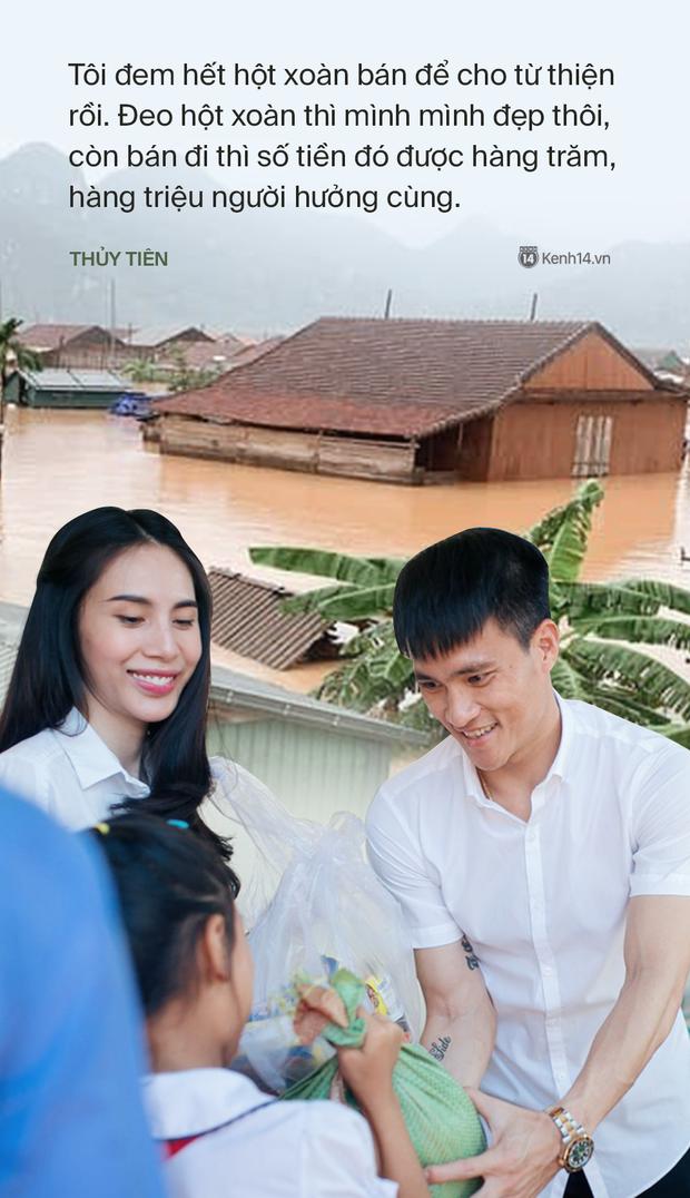 Phỏng vấn nóng Thuỷ Tiên đến Huế cứu trợ miền Trung: Đã kêu gọi được hơn 8 tỷ, bán hết hột xoàn làm từ thiện và chưa kịp báo chồng - Ảnh 7.