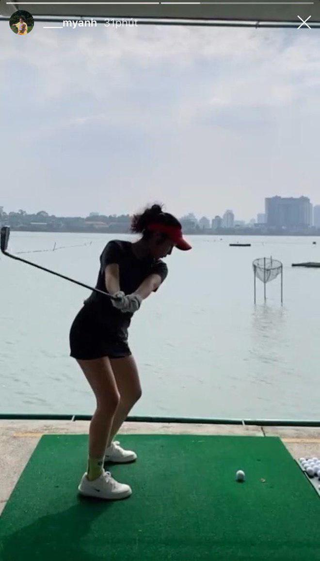 Tiểu thư 2k2 nhà Diva Mỹ Linh bước chân vào hội mê golf, tiết lộ nhờ vậy mà thân với bố hơn - Ảnh 2.