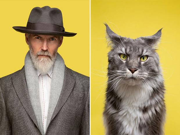 Bộ ảnh chứng minh chủ và thú cưng chung sống càng lâu càng giống nhau - Ảnh 5.