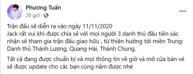 Quang Hải đầu quân cho đội bóng của Jack, tham gia trận cầu đặc biệt vào tháng 11 - Ảnh 2.