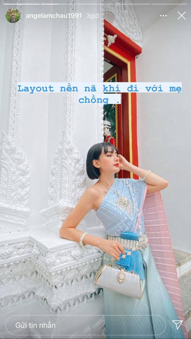 Gái đẹp Việt lấy đại gia Thái Lan tự bóc outfit lúc đi với mẹ chồng và khi là 'em bé' của anh - ảnh 2