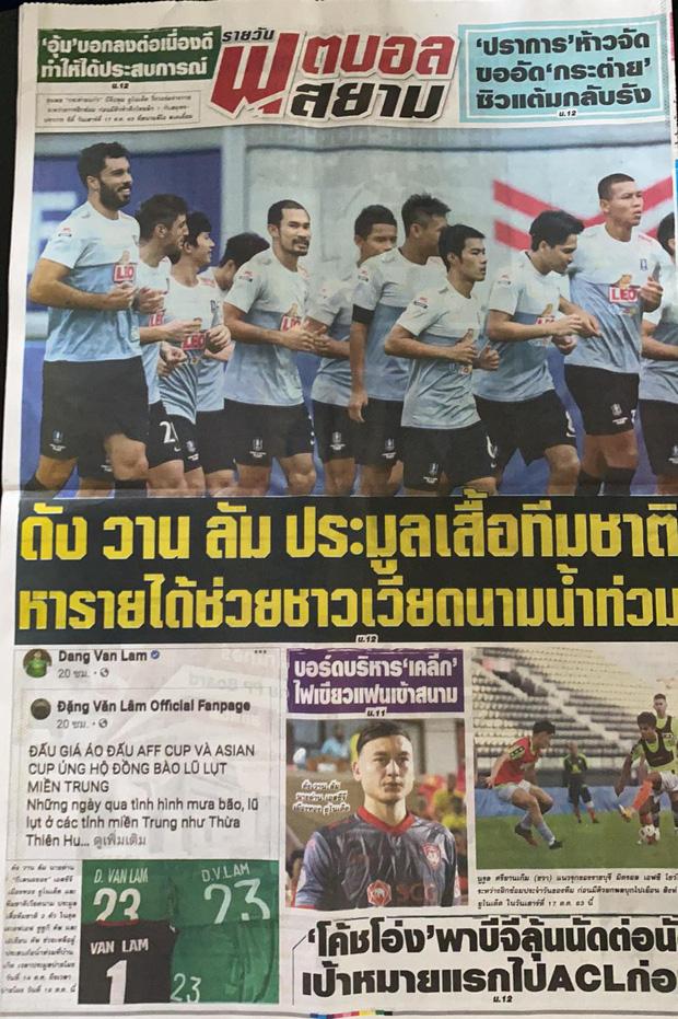 Báo Thái ca ngợi Văn Lâm vì nghĩa cử đẹp, Hà Nội FC ủng hộ người nghèo 1 tỷ đồng - Ảnh 1.