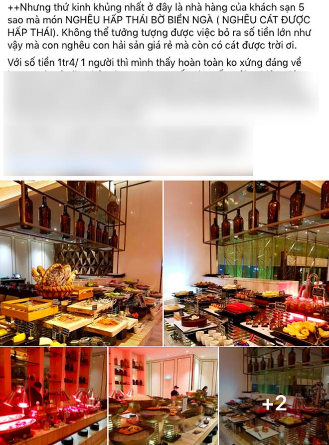 """Khách review buffet không ưng ý, nhân viên khách sạn 5 sao ở Sài Gòn mỉa mai """"1tr4 to quá, ăn 140k ở chợ Bến Thành còn hơn đó"""" - ảnh 2"""
