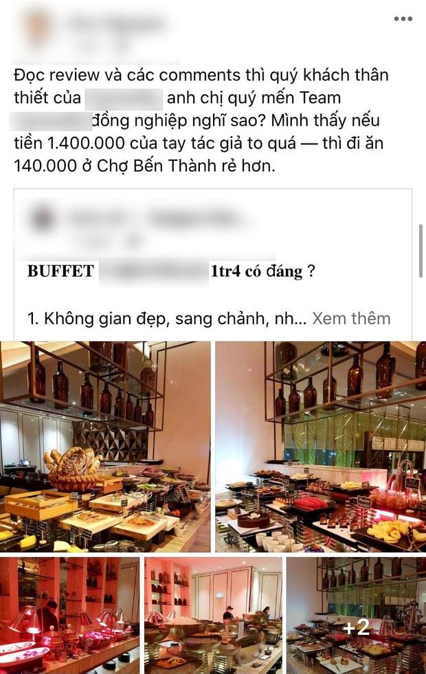 """Khách review buffet không ưng ý, nhân viên khách sạn 5 sao ở Sài Gòn mỉa mai """"1tr4 to quá, ăn 140k ở chợ Bến Thành còn hơn đó"""" - ảnh 5"""