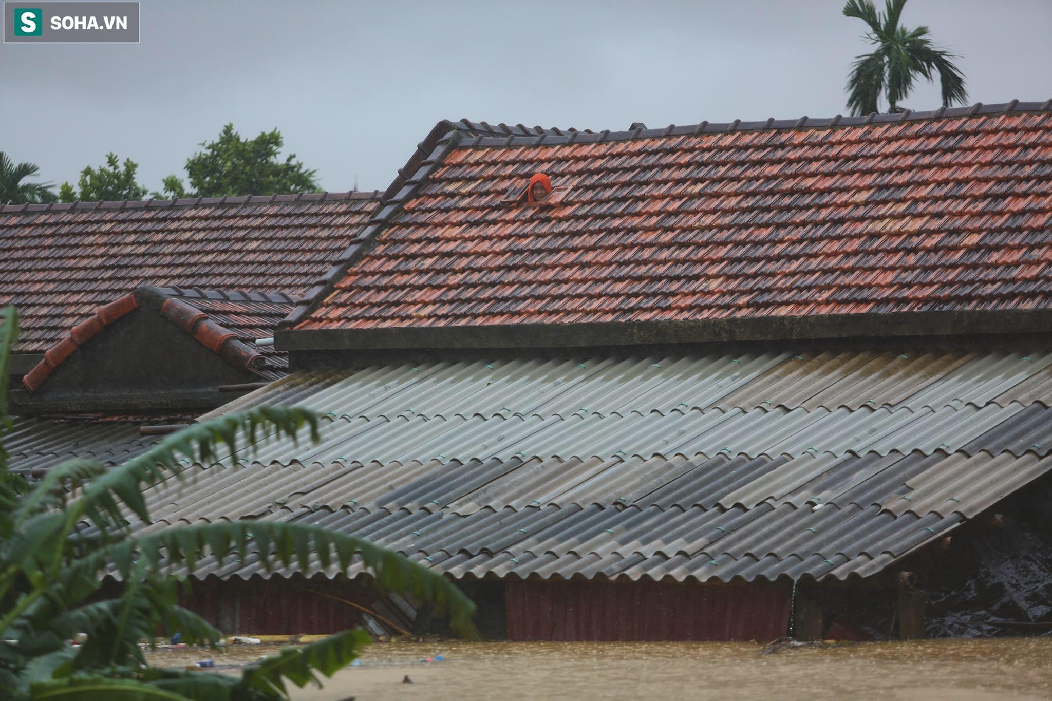 Những cánh tay 'cầu cứu' từ mái nhà trong cơn lũ lịch sử ở Quảng Bình - Ảnh 2.