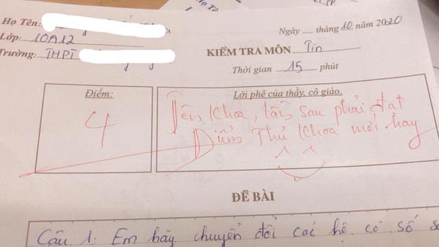 Thầy giáo cho đề kiểm tra cực khó, học trò khóc ròng nhưng lại cười ngay vì loạt lời phê cưng xỉu - Ảnh 2.
