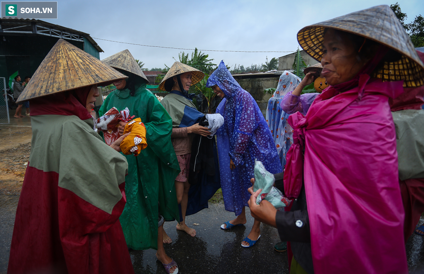 [Ảnh] Người phụ nữ ở Quảng Bình lao ra dòng nước lũ xin đồ ăn cho mẹ già bật khóc khi được cứu hộ khỏi ghe lật  - Ảnh 9.