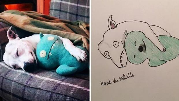 Vẽ chó mèo xấu như ma cấu nhưng vẫn bán được 150 triệu đồng, họa sĩ bèn đem đi từ thiện cho đỡ mang tiếng - Ảnh 1.