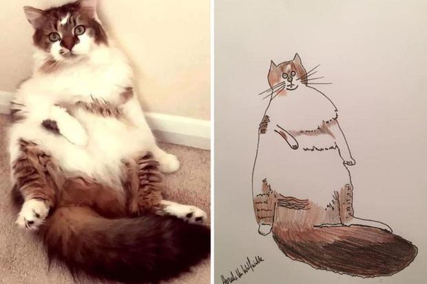 Vẽ chó mèo xấu như ma cấu nhưng vẫn bán được 150 triệu đồng, họa sĩ bèn đem đi từ thiện cho đỡ mang tiếng - Ảnh 5.