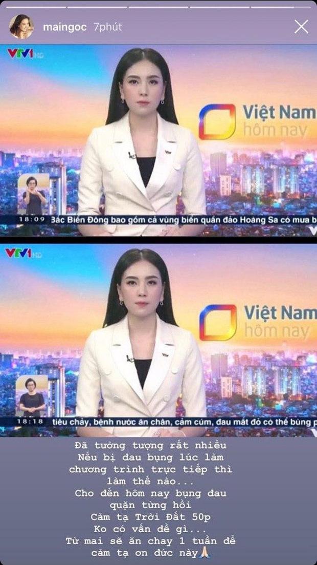 Mai Ngọc gặp tình huống éo le khi lên sóng trực tiếp, cách xử lý bình tĩnh của nữ MC khiến nhiều người nể phục - Ảnh 1.