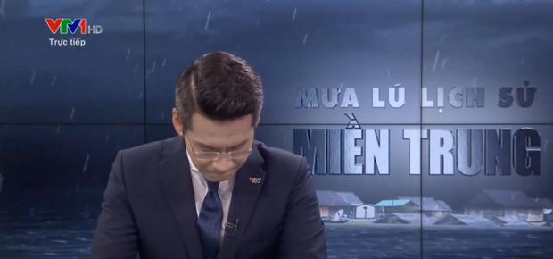 BTV bật khóc khi đang dẫn trực tiếp về lũ lụt miền Trung trên VTV là ai? - Ảnh 1.