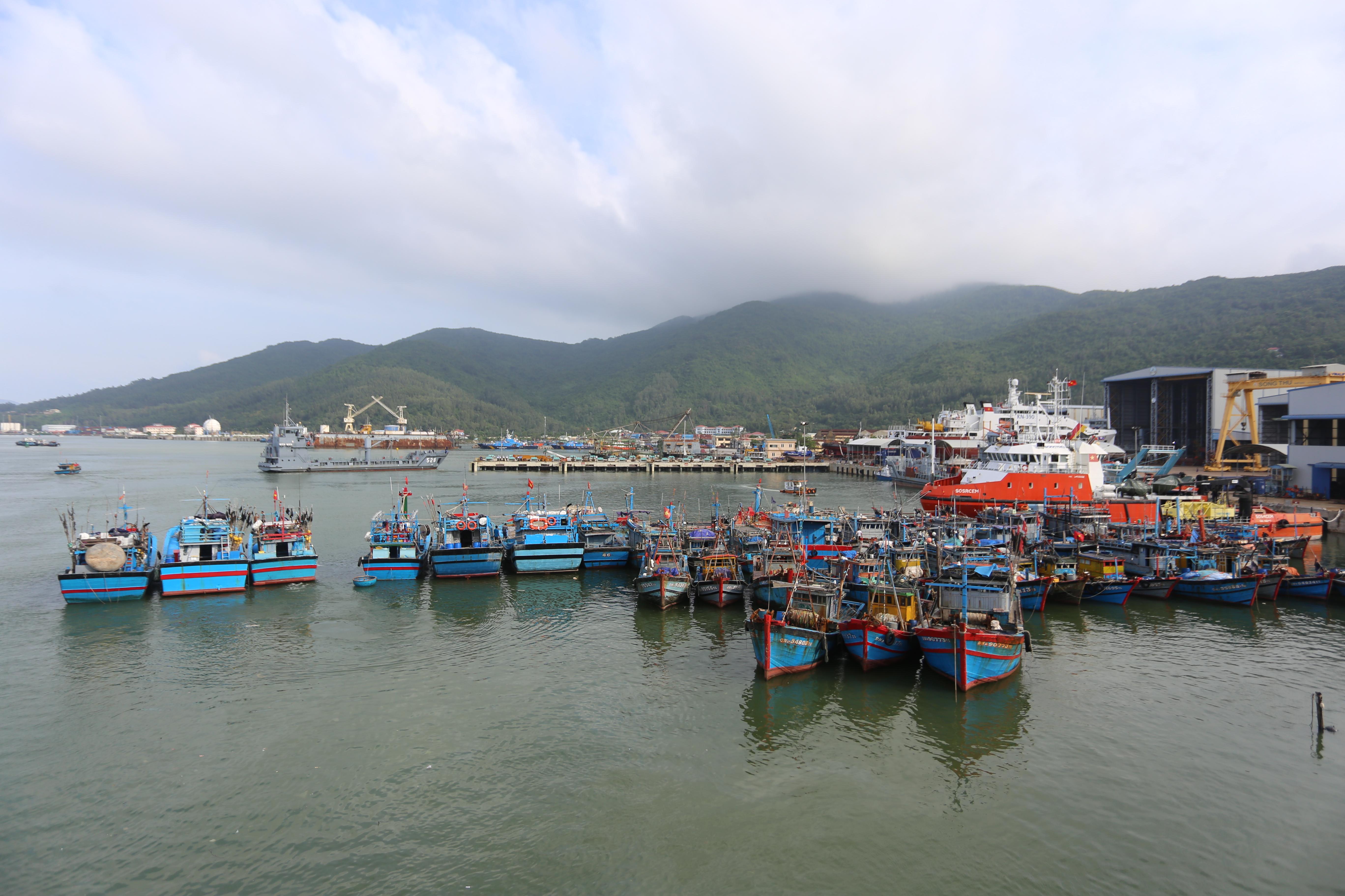 [Ảnh] Xe tải cẩu chở thuyền đến nơi an toàn, công an, bộ đội giúp người Đà Nẵng chằng chống nhà cửa đón bão số 9 - Ảnh 12.