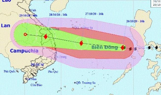 Sức mạnh của bão số 9 có thể bốc một con thuyền lớn từ dưới biển lên đường - Ảnh 1.