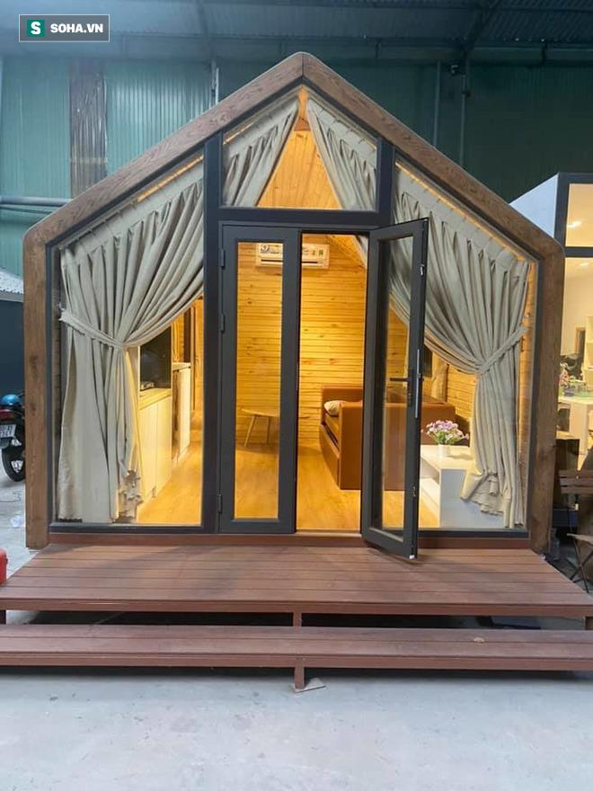 Nhà gỗ di động giá từ 120 triệu đồng, nội thất long lanh, thi công thần tốc gây sốt - Ảnh 2.