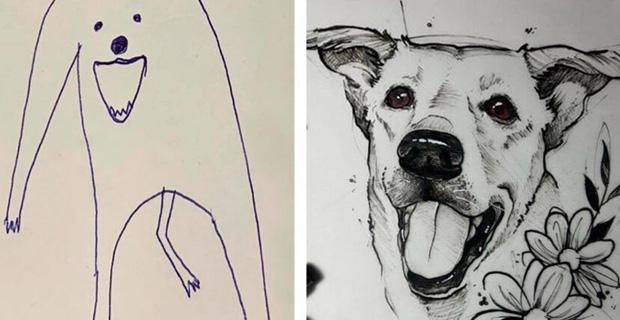 Bức tranh cún ngáo bất ngờ đánh bại mọi đối thủ nặng ký, giật giải quán quân trong cuộc thi vẽ chó - Ảnh 2.