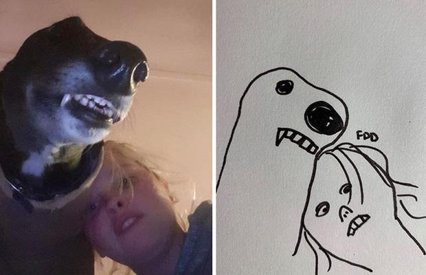 Bức tranh cún ngáo bất ngờ đánh bại mọi đối thủ nặng ký, giật giải quán quân trong cuộc thi vẽ chó - Ảnh 5.