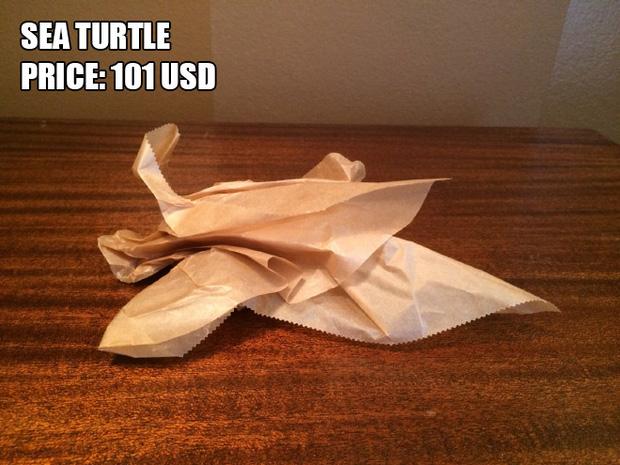 Anh chàng kiếm bộn tiền nhờ bán các kiệt tác origami phong cách cực lú - Ảnh 9.