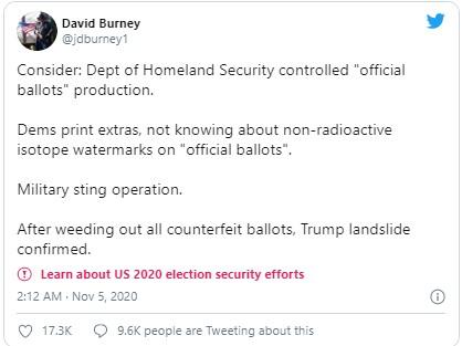 Bầu cử Mỹ: Sự thật tin phát hiện đảng Dân chủ tuồn phiếu giả, ông Trump huy động quân đội - Ảnh 1.