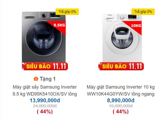 Máy giặt 10kg giảm còn 5 triệu đồng ngày nhân Lễ độc thân 11/11, làm sao không bị mua hớ? - Ảnh 1.