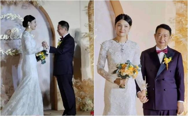Xôn xao đám cưới của cặp đôi đũa lệch chênh nhau 25 tuổi, biết danh tính chú rể ai cũng choáng - Ảnh 1.