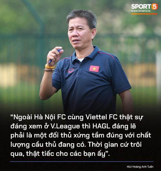 HAGL ít điểm hơn cả đội nhóm trụ hạng, HLV Hoàng Anh Tuấn tiếc nuối: Họ đáng lẽ phải là một đối thủ xứng tầm với Hà Nội FC - Ảnh 1.