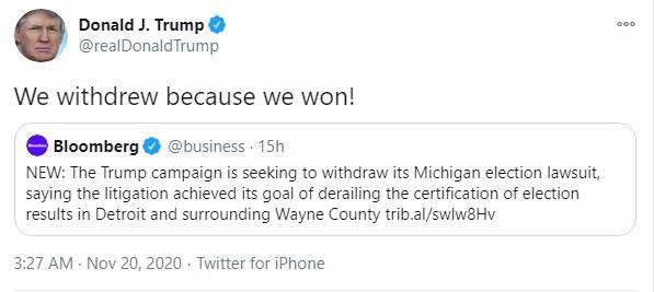 Đội ngũ pháp lý lãnh thêm 3 bàn thua trong cùng 1 ngày; ông Trump nói về việc rút khiếu nại ở Michigan - Ảnh 2.