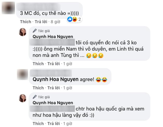 BTV Quỳnh Hoa: Xem ai là hoa hậu chỉ muốn tắt tivi vì người dẫn chương trình chán quá - Ảnh 4.