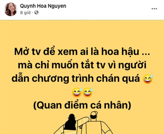 BTV Quỳnh Hoa: Xem ai là hoa hậu chỉ muốn tắt tivi vì người dẫn chương trình chán quá - Ảnh 3.