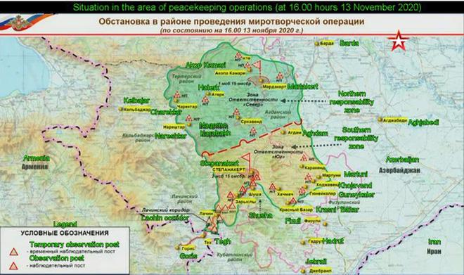 NÓNG: BQP Nga công bố bản đồ bố phòng mới ở Karabakh - Tín hiệu xấu cho QĐ Thổ Nhĩ Kỳ? - Ảnh 4.