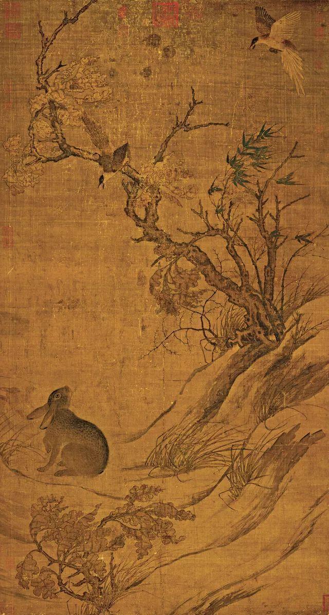Bức tranh cổ tang thương 800 năm không ai hiểu: Phóng to 10 lần hậu thế mới bất ngờ vì chi tiết khắc trên cây - Ảnh 1.