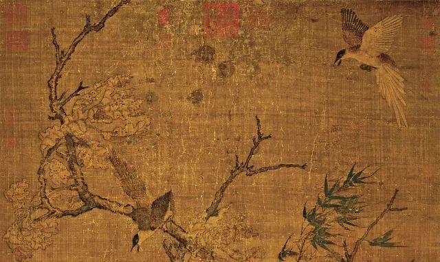 Bức tranh cổ tang thương 800 năm không ai hiểu: Phóng to 10 lần hậu thế mới bất ngờ vì chi tiết khắc trên cây - Ảnh 2.
