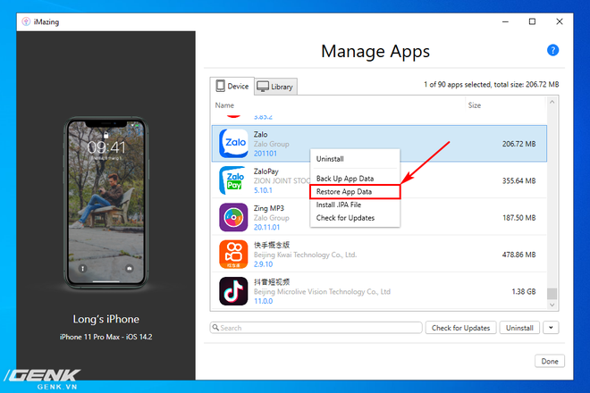 Hướng dẫn sao lưu, khôi phục dữ liệu ứng dụng trên iPhone và iPad - Ảnh 20.