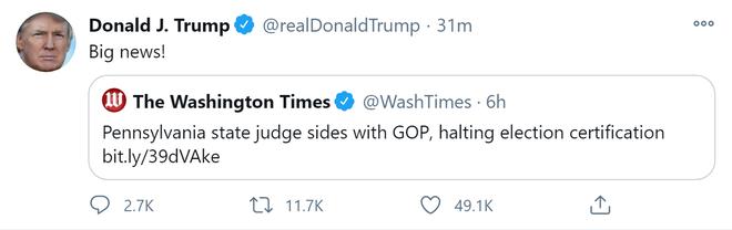 Ông Trump nhận 2 tin vui: Quyết định bất ngờ của tòa án Pennsylvania và một thắng lợi lớn ở Nevada - Ảnh 2.