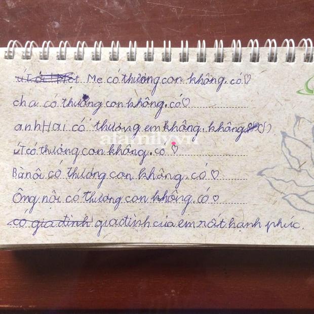 Bé gái lớp 2 viết nhật ký kể về gia đình, dân tình choáng váng phán ngay một câu: Anh trai đọc xong chắc trầm cảm - Ảnh 1.