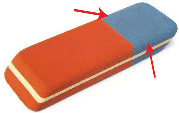 Bạn có biết phần màu xanh của cục tẩy dùng để làm gì không? - ảnh 1