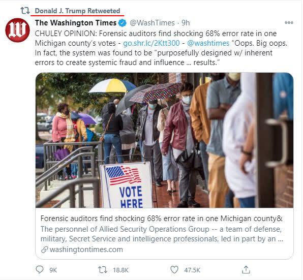 Kiểm tra các máy kiểm phiếu của 1 hạt ở bang Michigan, Mỹ: Phát hiện cực sốc - Tỉ lệ sai sót hơn 68% - Ảnh 1.